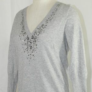Eileen Fisher Petites Embellished Sweater Size PL